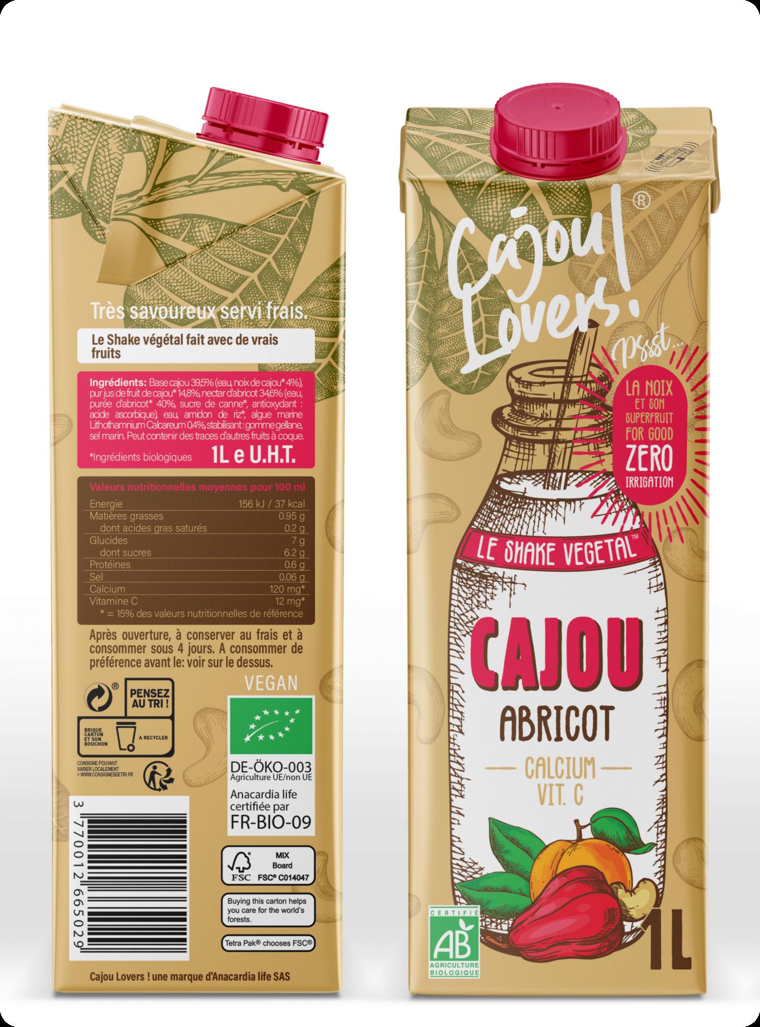 Cajou Lovers : le shake végétal calcium et vitamine C